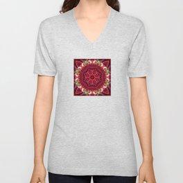 Rose Mandala - The Mandala Collection Unisex V-Neck