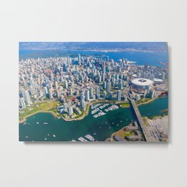 Peeking at Vancouver Metal Print