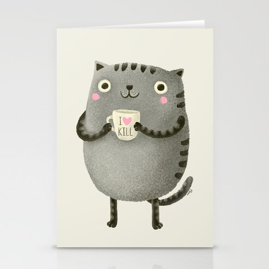 I♥kill (brown) Stationery Cards