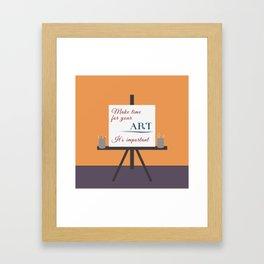 Make Time For Art (Colorful Calligraphy) Framed Art Print