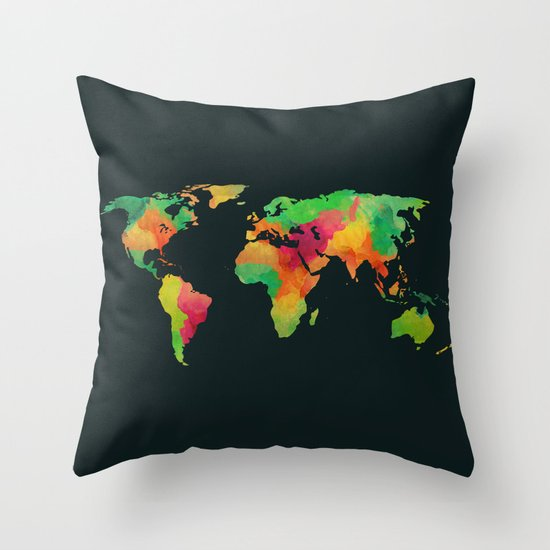 We are colorful Throw Pillow