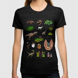 Jurassic pattern lighter T-shirt
