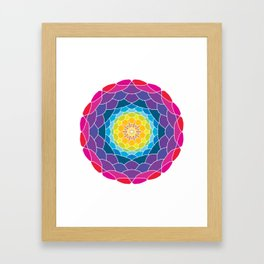 floral ornament. circular pattern Framed Art Print