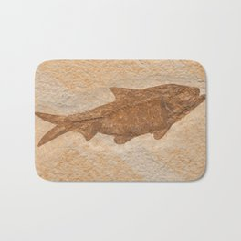 Knightia Herring Fish Fossil Bath Mat