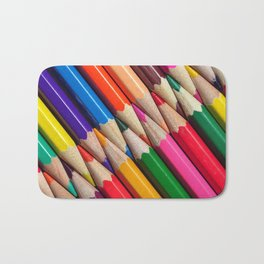 sharpen color pencils crayons background object texture pattern Bath Mat