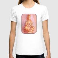 budi satria kwan T-shirts featuring Rose-Bronze Kwan Yin by Jan4insight