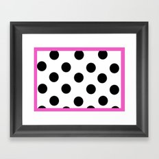 Pink and dots Framed Art Print