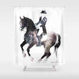 Horse (Canter pirouette II) Shower Curtain