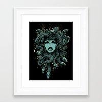 medusa Framed Art Prints featuring Medusa by miles to go