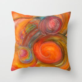 Sounds of Watercolors I Throw Pillow