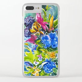 flowers #1 Clear iPhone Case