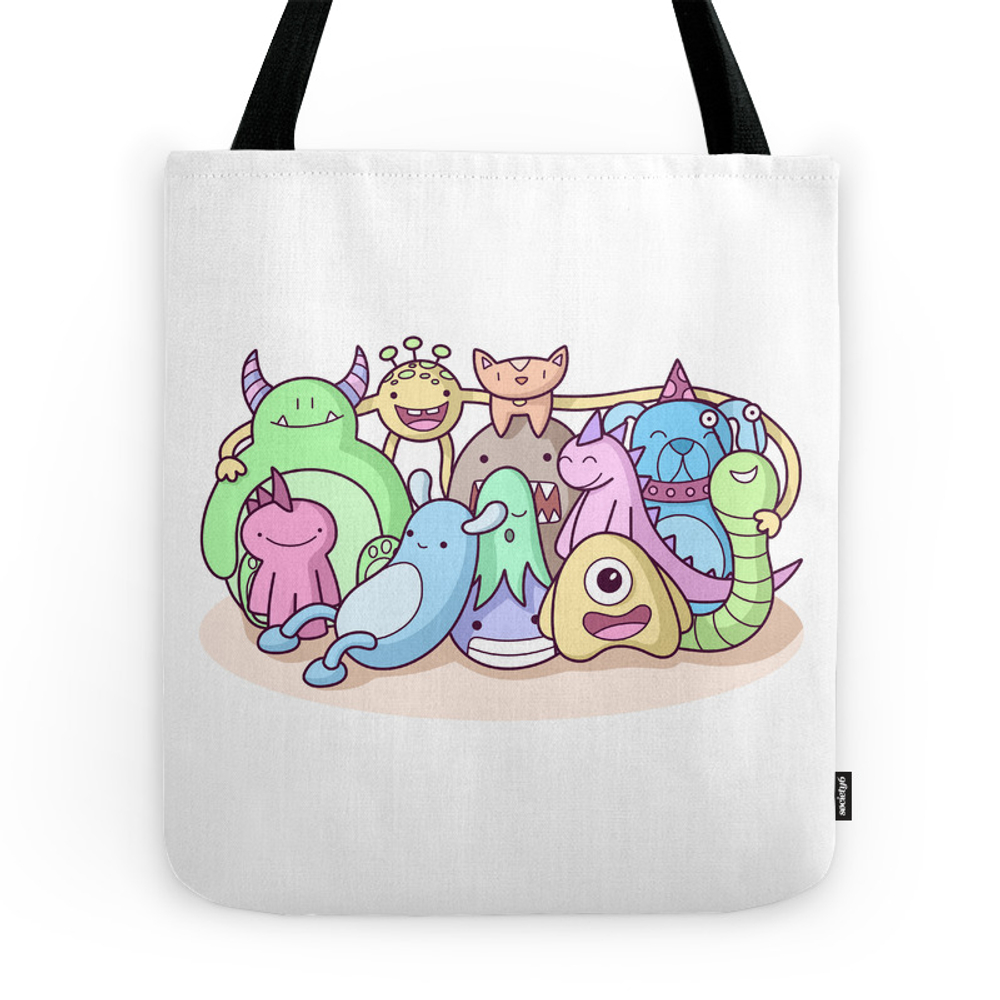 Monster Family Photo Tote Purse by sombrasblancas (TBG7656714) photo