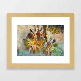 Palm Trees in Pond Framed Art Print