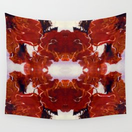 Red Rosie Photographic Pattern Wall Tapestry