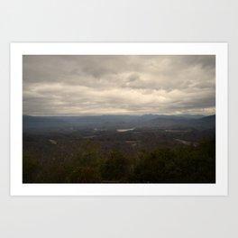 Winter Sky, Appalachian Mountains Art Print