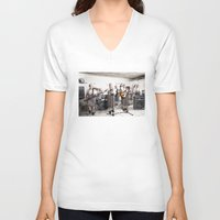 band V-neck T-shirts featuring Rock Band by Orbon Alija