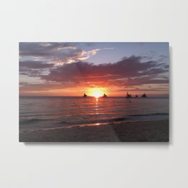 Vanilla Sky in a sunset Metal Print