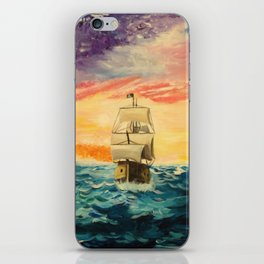 Pirating by Sunset iPhone Skin