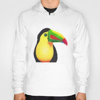 toucan Hoodies featuring Toucan by Jen Eva