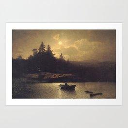 Fishing by Moonlight by Sophus Jacobsen Art Print