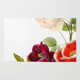 romantic floral design Rug
