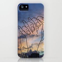 lovers in the sky iPhone Case