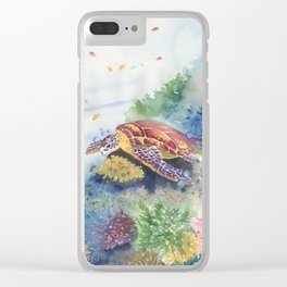 Sea Turtle and Friends Clear iPhone Case