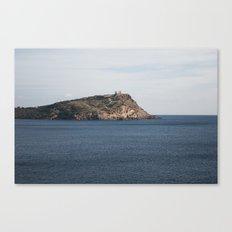 Greek seascape - landscape photography poster - Cape Sounio - Greece Canvas Print