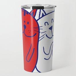 Cartoon Cat Lover Travel Mug