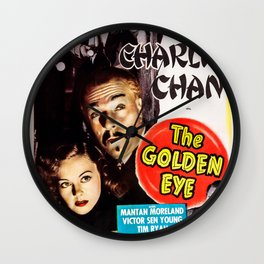 Charlie Chan in The Golden Eye (1948) - Vintage Film Poster Wall Clock