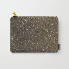 Bronze Gold Burnished Glitter Carry-All Pouch
