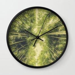 Bamboo Forest III Wall Clock