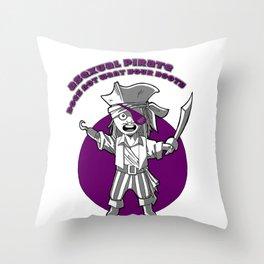 Ace pirate Throw Pillow