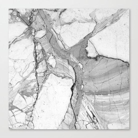 Grey marble Canvas Print