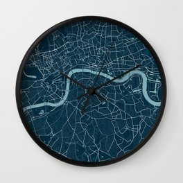 Minimalist London Map Wall Clock