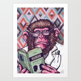 Ape Analyst Art Print