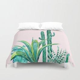cactus jungle watercolor painting 2 Duvet Cover
