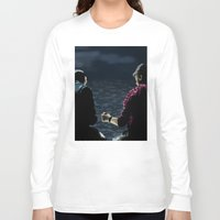stargate Long Sleeve T-shirts featuring John and Rodney on the Pier by dammitspawk