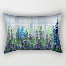 Nature Reflected Plaid Pine Forest Rectangular Pillow