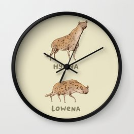 Hyena Lowena Wall Clock