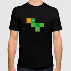 Pixel by pixel – Parrot LARGE Black Mens Fitted Tee