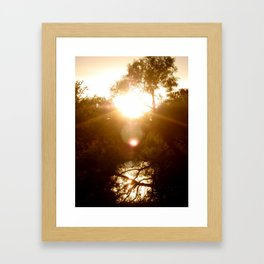 Sunset Reflection Framed Art Print