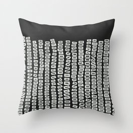 White Bricks Throw Pillow
