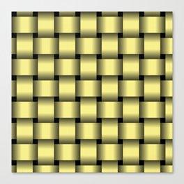 Large Khaki Yellow Weave Canvas Print