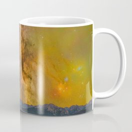 Milky way over the gore range Coffee Mug