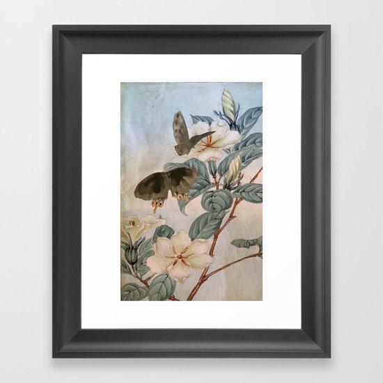 Jasmine And Butterflies Framed Art Print