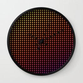 Dark Chromo Diamonds hot Wall Clock