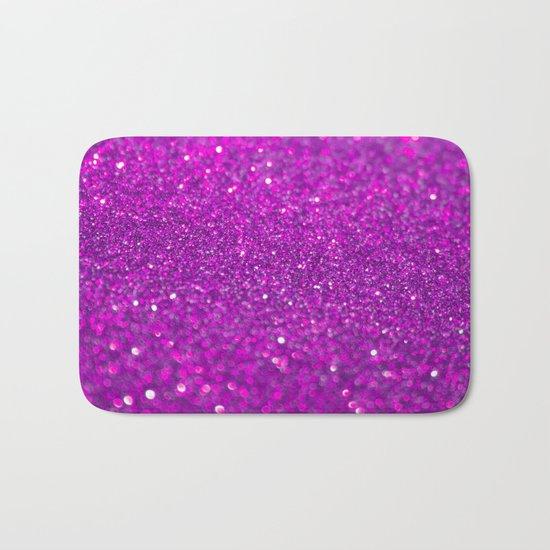 Bright Fuchsia Glitter Bath Mat