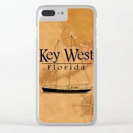Key West Sailing And Nautical Map Clear iPhone Case