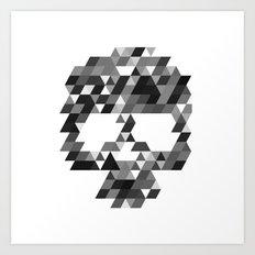 Skull bw w Art Print